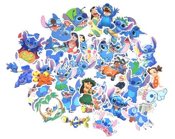 Lilo & Stitch Stickers | Vinyl Sticker for Laptop, Scrapbook, Phone, Luggage, Journal, Party Decoration | Assorted Stickers