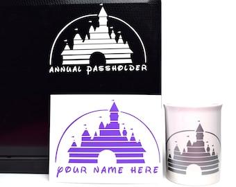 Custom Disney Castle Decal | Annual Passholder Decal | Disney Decal | Annual Pass Decal | Disney Castle Sticker | Disney Custom Name Decal