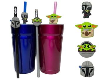 Mandalorian Straw Buddies | The Child Pencil Topper | Grogu | Baby Yoda | Ready to Ship!