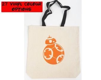 Custom BB8 Tote Bag | Star Wars Bag | Disney Tote Bag | Gift for Star Wars Fan | Gift for BB8 Fan | Disney World Bag | Disneyland Bag