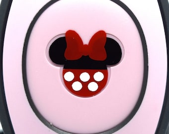 Minnie Mouse MagicBand 2.0 Decals | Magic Band Decal | Disney World Trip Vinyl Sticker | Custom Colors | Wrist Band Decoration for WDW