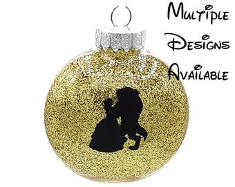 Beauty and the Beast Christmas Tree Disc Ornament | Disney Christmas Tree Ornament | Beauty & the Beast Ornament | Belle, Cogsworth, Lumiere