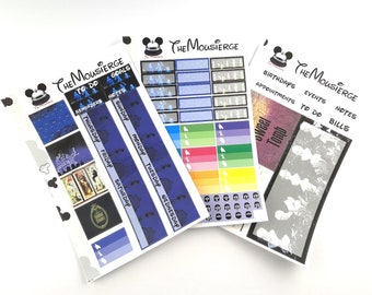 Haunted Mansion Monthly Planner Stickers | Erin Condren | For LifePlanners Organizers Journal Calendars | Permanent and Removable