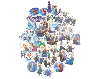Frozen Stickers | Vinyl Sticker for Laptop, Scrapbook, Phone, Luggage, Journal, Party Decoration | Disney Characters | Assorted Stickers