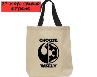 Custom Star Wars Tote Bag   Rebel vs Empire Bag   Disney Tote Bag   Gift for Star Wars Fan   Galaxy's Edge   Disneyland Bag