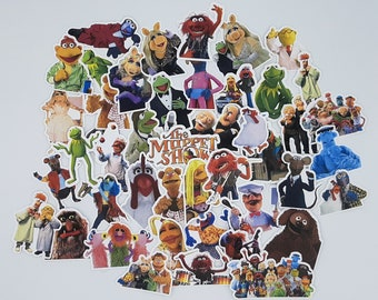 Muppet Stickers   Vinyl Sticker for Laptop, Scrapbook, Phone, Luggage, Journal, Party Decoration   Assorted Stickers