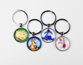 Winnie the Pooh Keychain | Disney Purse Charm | Gift for Disney Fan | Pendant Keyring Cruise Fish Extender | Ready to Ship
