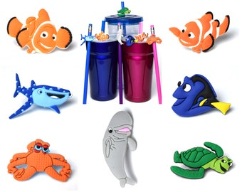 Finding Nemo Straw Buddies | Finding Dory Pencil Toppers | Ready to Ship!