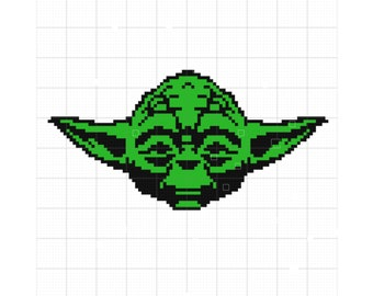 Yoda Crochet Blanket Pattern | Disney Crochet Pattern | Star Wars Pattern | Blanket Pattern | Blanket Crochet Pattern