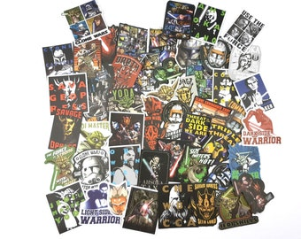 Star Wars: Clone Wars Stickers | Vinyl Sticker for Laptop, Scrapbook, Phone, Luggage, Journal, Party Decoration | Assorted Stickers