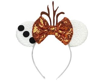 Olaf Frozen Minnie Ears   Ready to Ship!