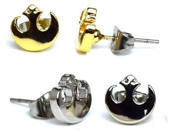 Silver and Gold Star Wars Rebels Symbol Earrings | Star Wars Jewelry | Galaxy's Edge | Star Wars Earrings | Rebels Earrings | Rebels Jewelry
