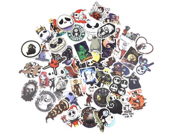 The Nightmare Before Christmas Stickers | Vinyl Sticker for Laptop, Scrapbook, Phone, Luggage, Journal, Party Decoration | Assorted Stickers