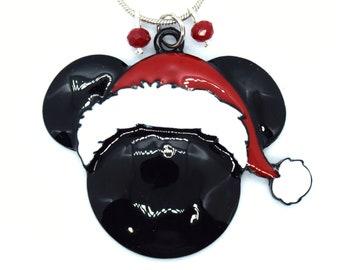 Santa Mickey Mouse Christmas Necklace   Disney Christmas Necklace   Christmas Disney Jewelry   Christmas Mickey Mouse Jewelry   Santa Claus