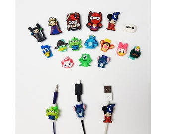 Disney Cable Protectors   Stitch   Mickey Minnie Donald Daisy   Monsters Inc   Marie   Winnie the Pooh   Android iPhone cables