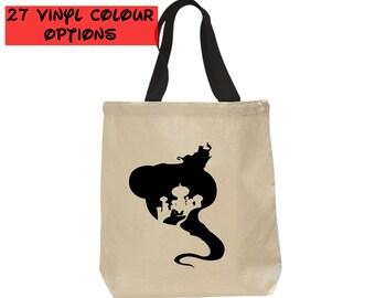 Custom Aladdin Genie Tote Bag | Custom Aladdin Tote Bag | Custom Genie Bag | Aladdin Bag | Disney Tote Bag | Disney Canvas Tote Bag