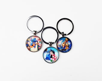 Lilo and Stitch Keychain | Disney Purse Charm | Gift for Disney Fan | Pendant Keyring Cruise Fish Extender | Ready to Ship