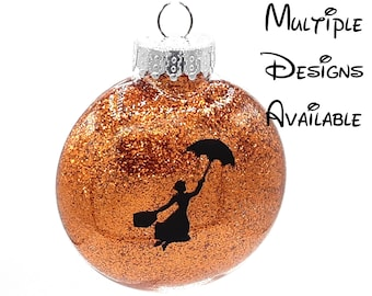 Mary Poppins Christmas Tree Disc Ornament | Disney Christmas Tree Ornament | Mary Poppins Ornament | Mary Poppins and Bert Ornament
