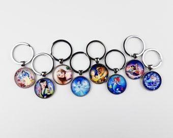 Princess Keychain | Disney Purse Charm | Gift for Disney Fan | Pendant Keyring Cruise Fish Extender | Ready to Ship