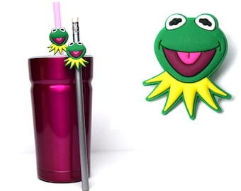 Kermit Straw Buddies   Muppets Pencil Topper   Ready to Ship!