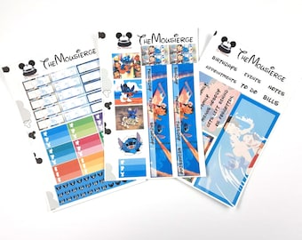 Lilo and Stitch Monthly Planner Stickers | Erin Condren | For LifePlanners Organizers Journals Calendars | Angel | Permanent and Removable