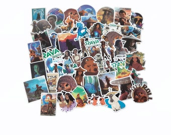 Raya and the Last Dragon Stickers | Vinyl Sticker for Laptop, Phone, Scrapbook, Luggage, Journal, Party Decoration | Assorted Stickers