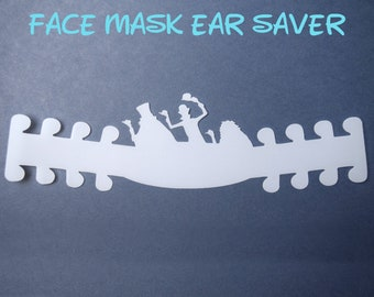 Hitchhiking Ghosts Face Mask Ear Saver | Haunted Mansion | Ready to Ship!