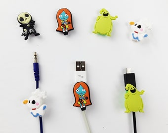 Nightmare Before Christmas Cable Protectors   Android iPhone cables   Assorted Cable Protector