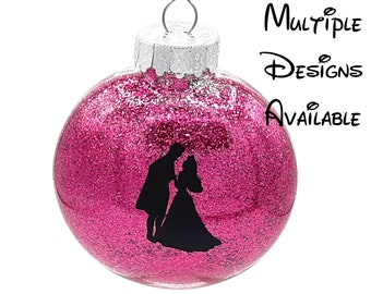 Sleeping Beauty Christmas Tree Disc Ornament | Disney Christmas Tree Ornament | Sleeping Beauty Christmas Ornament | Maleficent Ornament