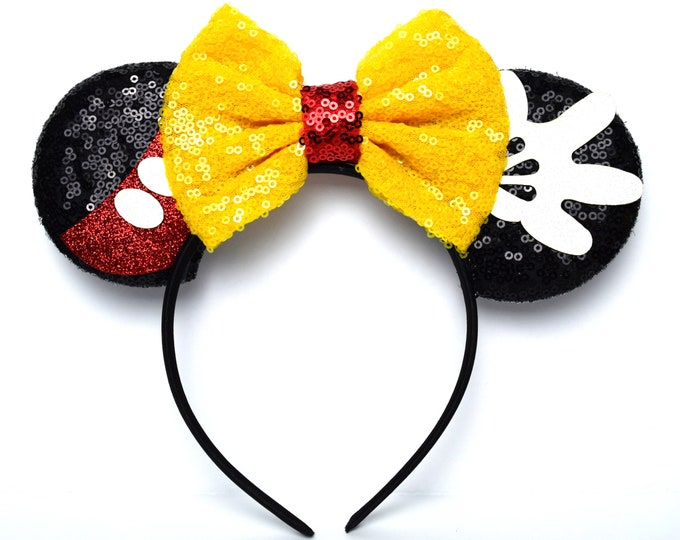 Featured listing image: Sequin Mickey Mouse Minnie Ears | Ready to Ship!