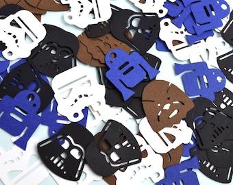 Star Wars Confetti | Star Wars Party Confetti | Star Wars Party Supplies | Darth Vader Confetti | R2D2 Confetti | Storm Trooper | Chewbacca