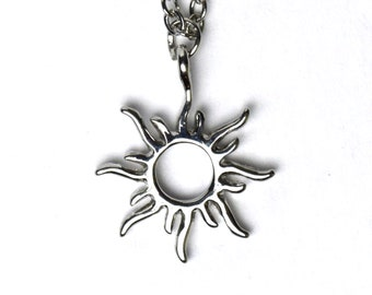 Tangled Sun Necklace | Silver Rapunzel Jewelry | Gift for Disney Fan | Ready to Ship Fast