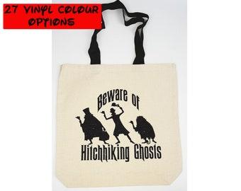 Custom Haunted Mansion Tote Bag | Custom Hitchhiking Ghosts Tote Bag | Custom Haunted Mansion Bag | Hitchhiking Ghosts Bag | Disney Tote Bag