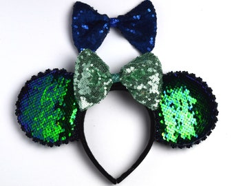 Mermaid Sequin Minnie Ears