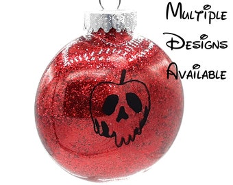 Snow White Christmas Tree Disc Ornament | Disney Christmas Tree Ornament | Snow White Christmas Ornament | Evil Queen Christmas Ornament