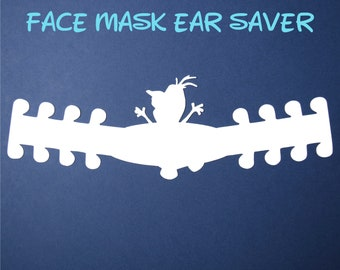 Olaf Face Mask Ear Saver | Plastic Mask Extender | Frozen Ear Protector | Adjustable Adapter | Mask Clips | Disney Trip | Ready to Ship