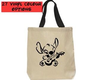 Custom Stitch Tote Bag   Stitch Bag   Disney Tote Bag   Disney Canvas Tote Bag