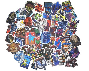 Marvel Character Stickers | Vinyl Sticker for Laptop, Scrapbook, Phone, Luggage, Journal, Party Decoration | Assorted Stickers