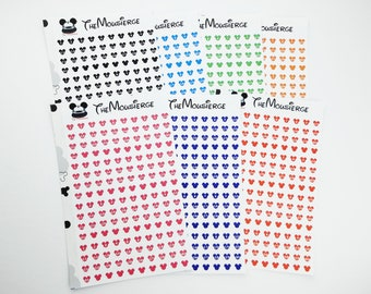 Hidden Mickey Month Planner Stickers | Erin Condren | For LifePlanners Organizers Journals | Disney | Permanent and Removable