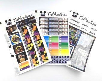 Hocus Pocus Monthly Planner Stickers | Erin Condren | For LifePlanners Organizers Journal Calendars | Permanent and Removable
