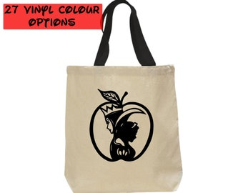 Custom Snow White Tote Bag | Custom Evil Queen Tote Bag | Disney Canvas Tote Bag | 27 Colours to Choose From