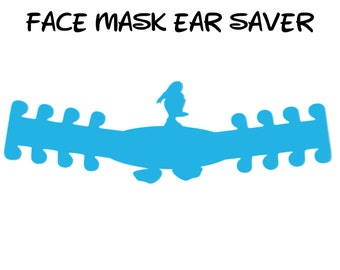 Donald Duck Face Mask Ear Saver | Plastic Mask Extender | Ear Protector | Adjustable Adapter | Mask Clips | Disney Trip | Ready to Ship