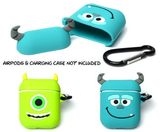 Monsters Inc AirPods Case Cover | AirPods & Charging Case NOT Included | Mike and Sully