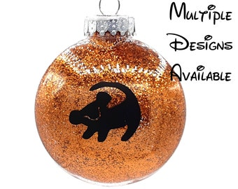 Lion King Christmas Tree Disc Ornament | Disney Christmas Tree Ornament | Lion King Simba Pumbaa Timon Zazu Scar