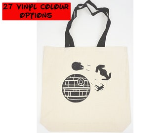 Custom Star Wars Tote Bag | Millennium Falcon | Disney Tote Bag | Gift for Star Wars Fan | Death Star | Disney World Bag | Disneyland Bag