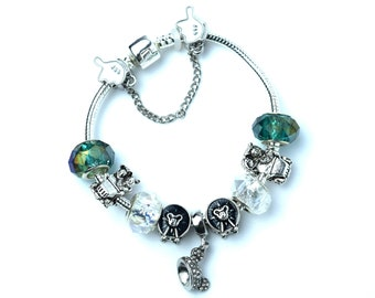 Silver Disney Charm Bracelet | Silver Minnie Charm Bracelet | Silver Minnie Mouse Charm Bracelet | Mickey Charm Bracelet | Disney Charms