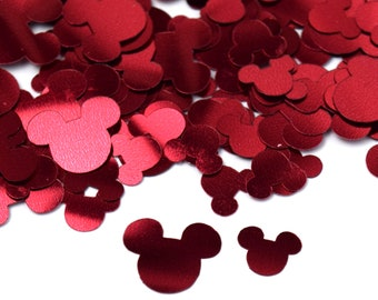 Red Foil Mickey Mouse Confetti | Red Foil Mickey Confetti | Mickey Decorations | Disney Confetti | Disney Birthday Party Decorations