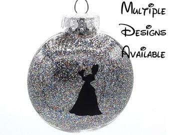 Princess and the Frog Christmas Tree Disc Ornament | Disney Christmas Tree Ornament | Tiana Christmas Ornament | Princess and Frog Ornament
