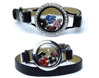 Disney Floating Charm Bracelet | Mickey Mouse Floating Charm Bracelet | Minnie Charm Bracelet | Disney Birthstone Floating Charm Bracelet |