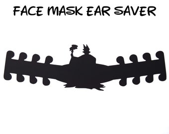Maleficent Face Mask Ear Saver | Plastic Mask Extender | Sleeping Beauty Ear Protector | Adjustable Adapter | Disney Trip | Ready to Ship